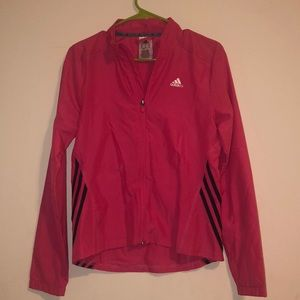 Adidas Pink Jacket Waterproof